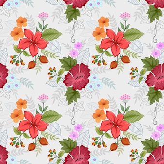 Beautiful flowers in vintage color pattern.
