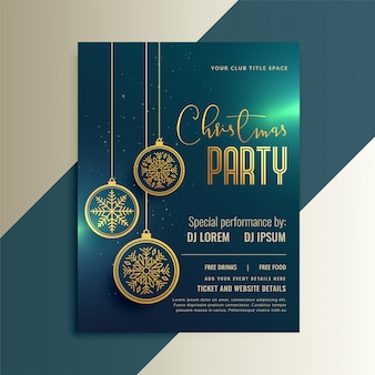 Beautiful flyer greeting for christmas celebration
