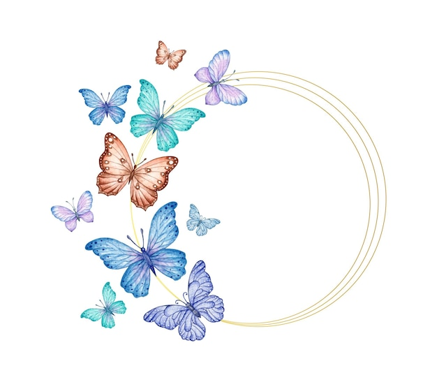Beautiful flying butterflies valentine card
