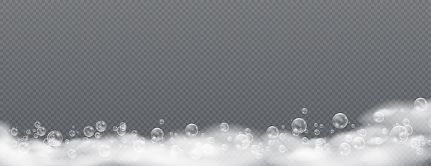 Beautiful foam and bubbles