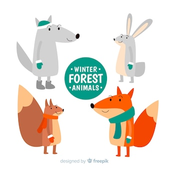 Beautiful forest animal collection