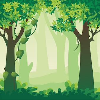 Beautiful forest landscape  illustration