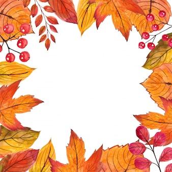 Beautiful frame autumn leaves.