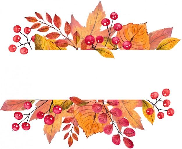 Красивая рамка осенних листьев.