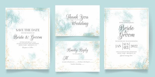 美しいフレームの結婚式の招待状のテンプレート