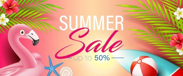Beautiful fresh summer sale background