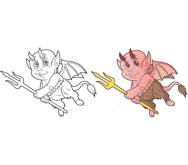 Красивая забавная иллюстрация демона