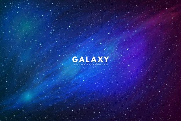 Красивый фон галактики, полный звезд