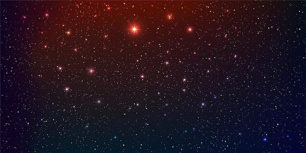 Красивый фон галактики с туманностью космоса звездной пылью и яркими сияющими звездами в универсальном