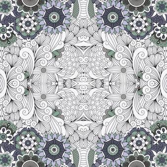 白い背景の上の美しい幾何学模様