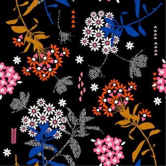 美しい幾何学的な花のミックス