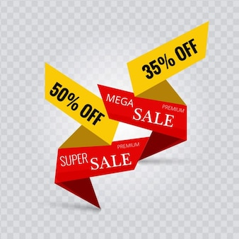 Beautiful geometric labels for discounts