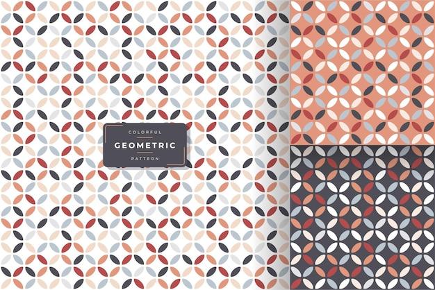 美しい幾何学的なシームレスパターンデザイン