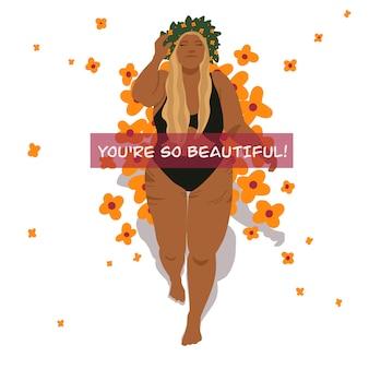 Beautiful girl  body positive