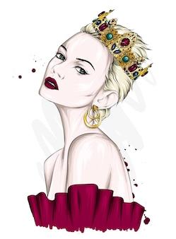 Beautiful girl in the crown
