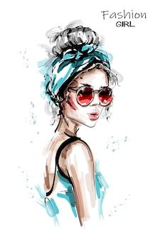 Beautiful girl in headband