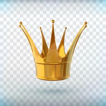 Красивый знак силы девушки, отлично подходит для любых целей. реалистичная корона. золотая корона. королевский знак. роскошные vip украшения. успех, концепция лидерства. головной убор королевы.
