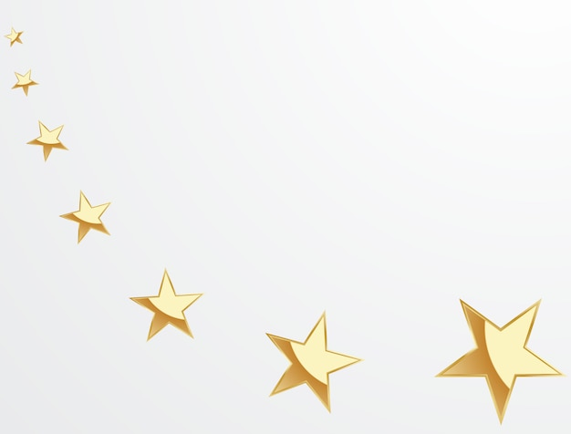 Beautiful gold star background arranged for decorating various celebrations
