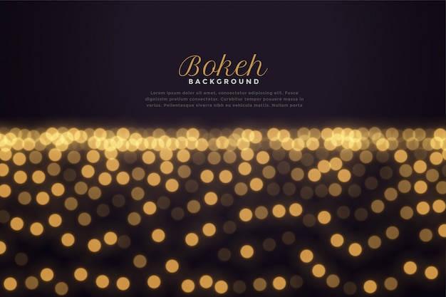 Beautiful golden bokeh light effect background