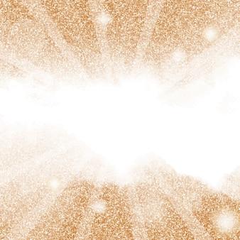 ボケ味の正方形のバナーの背景を持つ美しい黄金の輝き