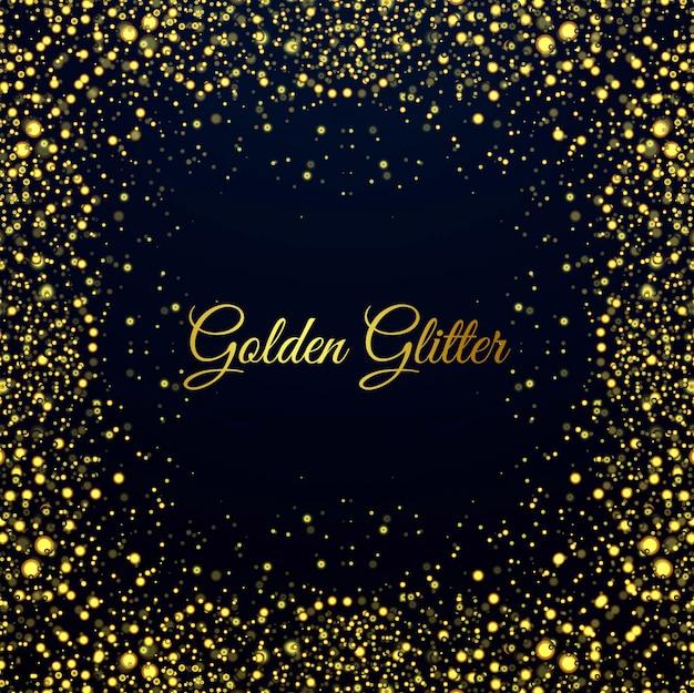 Beautiful golden glitters shiny background