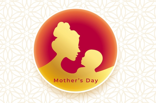 Beautiful golden happy mothers day greeting background