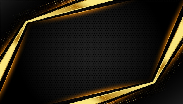 Beautiful golden luxury background with text space Free Vector