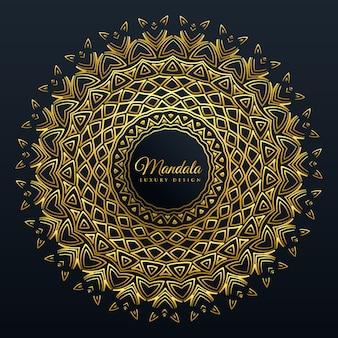 Красивый фон из золотой мандалы
