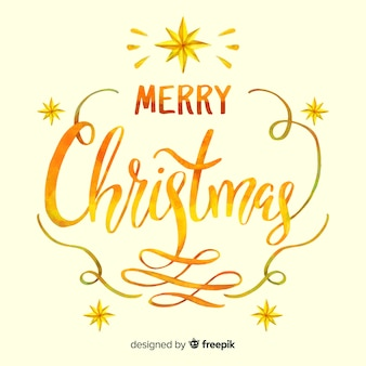 Beautiful  golden merry christmas lettering