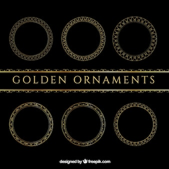 Beautiful golden ornaments