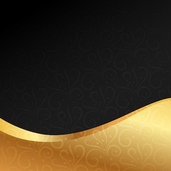 Beautiful golden premium background Free Vector