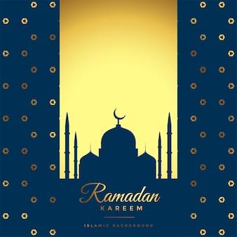 Beautiful golden ramadan kareem background