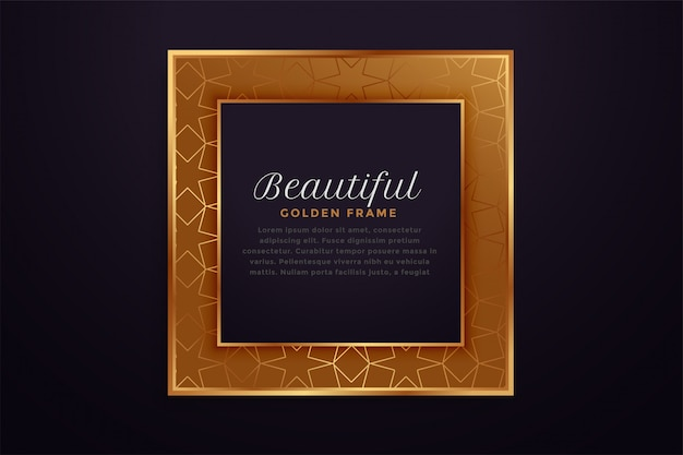 Beautiful golden square frame