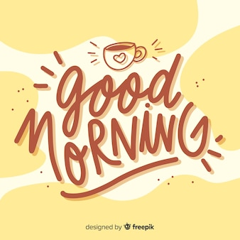 Beautiful good morning lettering background