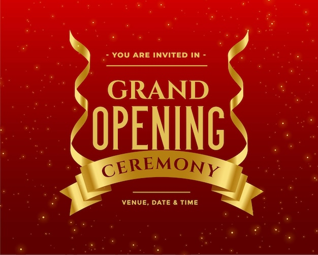 Beautiful grand opening ceremony invitation template