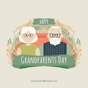 Красивый дизайн дня дедушки и бабушки