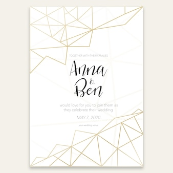 Beautiful graphic wedding invitation