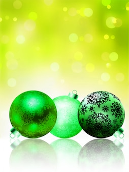 Красивая зеленая счастливая рождественская открытка.
