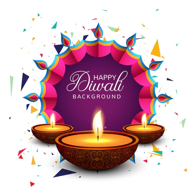 Free Beautiful Greeting Card For Festival Happy Diwali