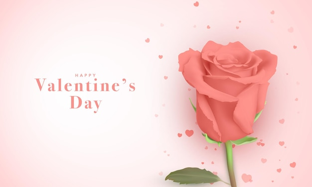 バレンタインデーのための美しいグリーティングカード