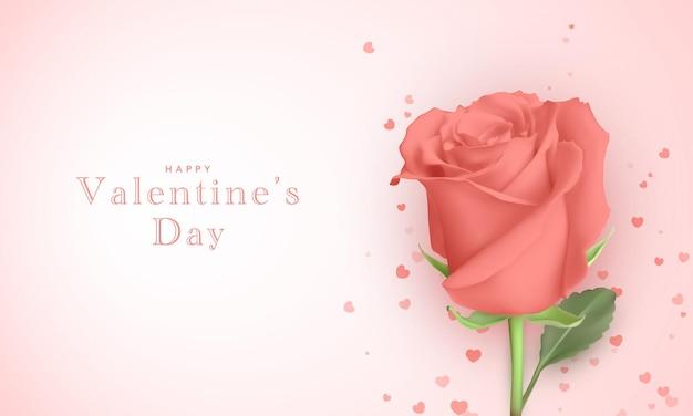 발렌타인 데이 대 한 아름 다운 인사말 카드입니다.
