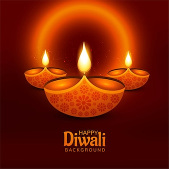 Diwali felice bella cartolina d'auguri per sfondo festival indiano