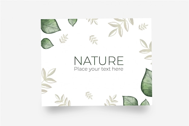 Beautiful greeting card made with natural leaves