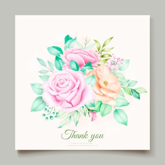 美しい手描きの花束の花柄