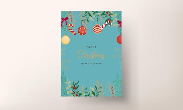 美しい手描きのクリスマスカードのデザイン
