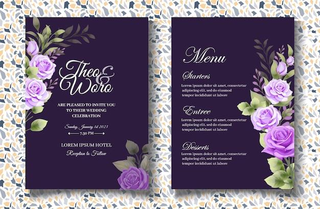 Красивая рука рисунок цветочные свадебные приглашения карты шаблон