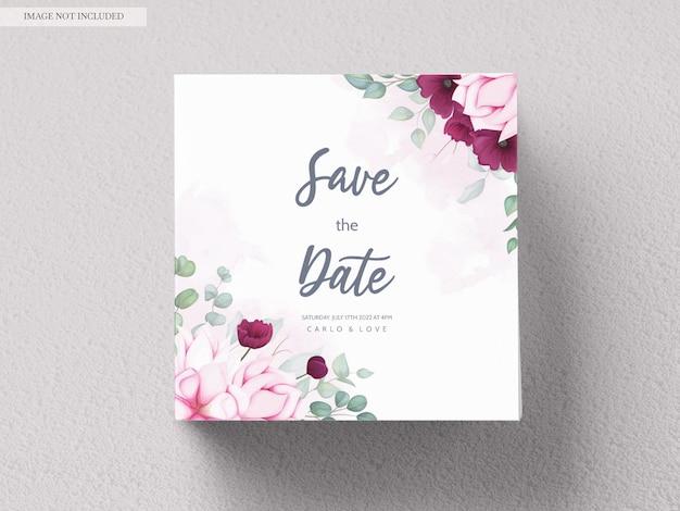 Bella mano disegno disegno floreale invito a nozze