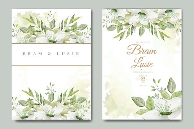 아름다운 손 그리기 청첩장 꽃 잎 디자인