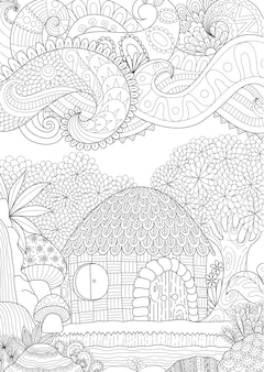 Beautiful hand drawn background