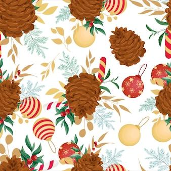 Красивый рисованной рождественские элементы шаблона